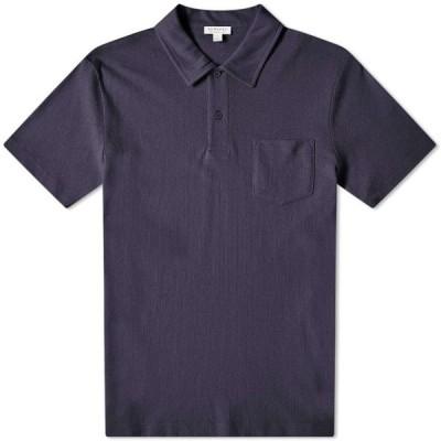 サンスペル Sunspel メンズ ポロシャツ トップス Riviera Polo Navy