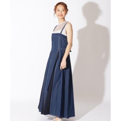 【アンドクチュール】 デニムジャンスカ レディース ブルー M And Couture