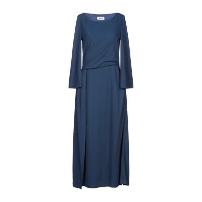 NIŪ ロングワンピース&ドレス ブルー S レーヨン 48% / アセテート 40% / ナイロン 12% ロングワンピース&ドレス