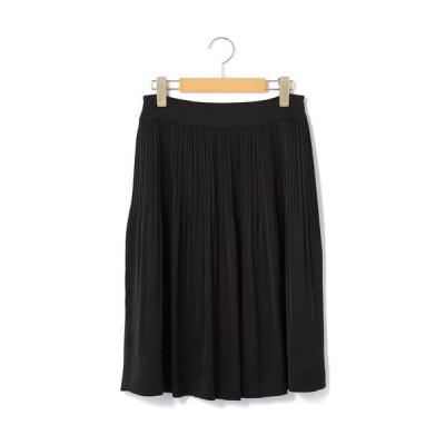 KEITH/キース サテンジョーゼット スカート ブラック 40
