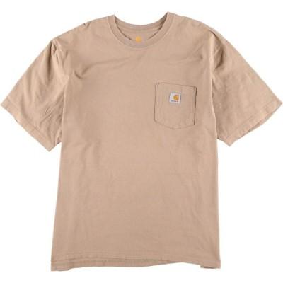 カーハート Carhartt ワンポイントロゴポケットTシャツ メンズXXL /eaa154418