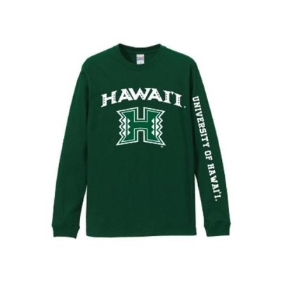 【新作入荷!!】正規ライセンス ハワイ限定 ハワイ大学 UH ユニセックス 長袖Tシャツ ロングTシャツ レディース メンズ ハワ大 Honolulu Hawaii