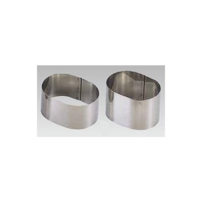 製菓用品 18-0セルクルリング小判型 60×40×H30mm 7-1003-0201 8-1035-0201