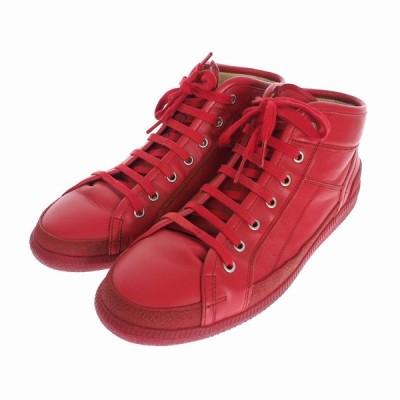 【中古】メゾンマルジェラ Maison Margiela 22 16SS レザー ハイカット スニーカー 43 レッド 赤 S57WS0105 メンズ 【ベクトル 古着】