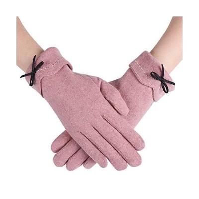 レディース手袋 暖かい冬用手袋 アウトドアグローブ 裏起毛 保温 通勤 通学 防寒 防風 自転車 バイク サイクルグローブ 可愛い女性手袋