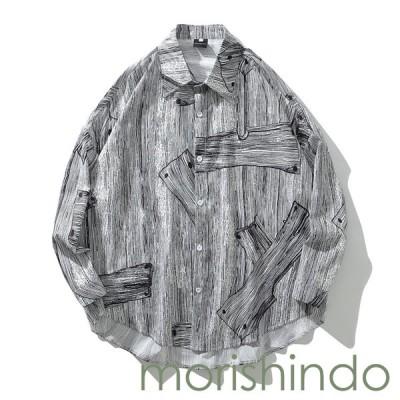 アロハシャツ 前開き メンズ カジュアルシャツ M 写真の色 長袖シャツ 和風 ハワイ風 おしゃれ 春秋服 韓国風 ビーチシャツ かわいい
