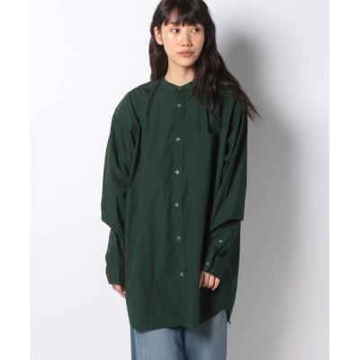 (koe/コエ)ブロードロングシャツ/レディース グリーン