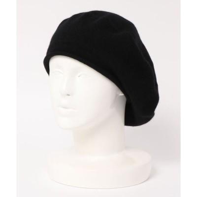 帽子 カシミヤ100%ベレー帽