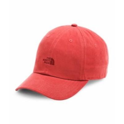 ノースフェイス メンズ The North Face WASHED NORM HAT キャップ 帽子 SUNBAKED RED