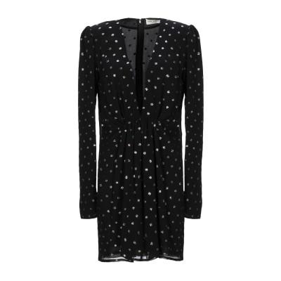 SAINT LAURENT ミニワンピース&ドレス ブラック 36 レーヨン 100% / ナイロン / シルク ミニワンピース&ドレス