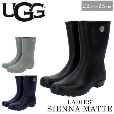 ugg ブーツ 通販 アグ レインブーツ マット pvc 約 22cm 約 23cm 約 24cm 約 25cm ブラック 黒 長靴 スノーブーツ 防水 雪 靴 カジュアル ミドルブーツ