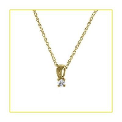 送料無料 ネックレス PRETTY JEWELLERY PVT. LTD Engagement Solitaire Drop Pendant for Women's 0.07 Ct Round Cut Natural Diamond Solid