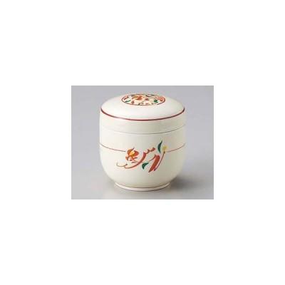 和食器 ホ106-317 赤絵みのり夏目むし碗