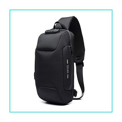 Sling Bag for Men Shoulder Crossbody Backpack Waterproof Sling Backpack with USB Charging Port Anti Theft Chest Pack Bag Casual Daypack Fit 9.7 Inch I