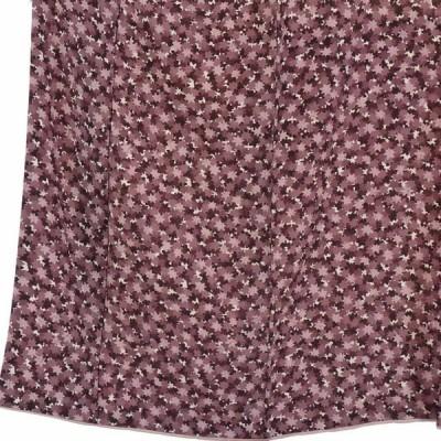 リサイクル着物 小紋 正絹紫地楓柄袷小紋着物