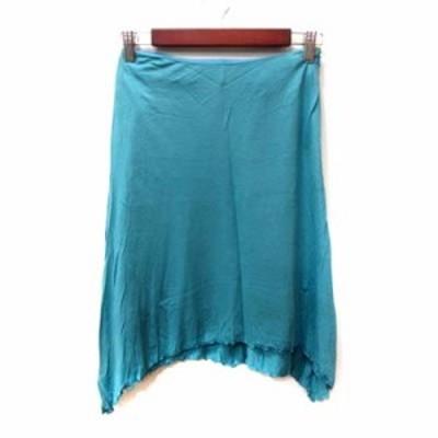 【中古】クローラ crolla フレアスカート ひざ丈 36 青 ブルー /YI レディース