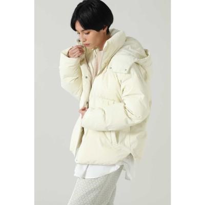 中綿カラージャケット ホワイト