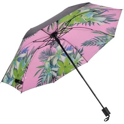 日傘 折りたたみ レディス UVカット 100 完全 遮光 花柄 晴雨兼用 紫外線カット 遮熱 大きい 母の日(ボタニカル(ピンク))