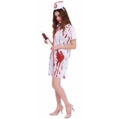 ハロウィン ナース服 ゾンビ 看護婦 コスプレ ナース コスチューム コスプレセクシー 制服 ミニスカ 医者 女医 衣装 仮装 白衣