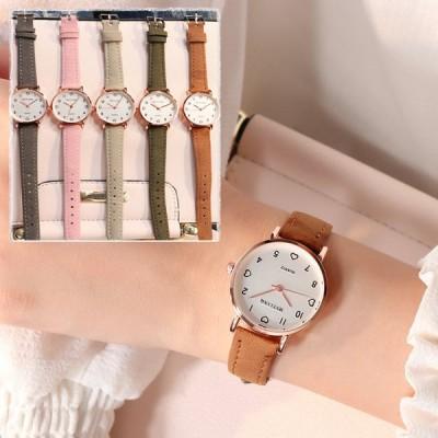 女性用時計 シンプルなヴィンテージ スモールダイヤルウォッチ スウィートレザーストラップ アウトドアスポーツ腕時計 ギフト 女性用