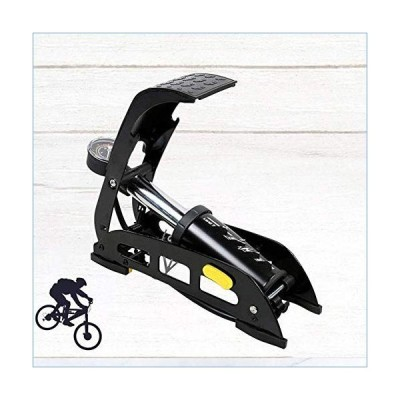 Bike Floor Pump Inflator Bicycle Tire Floor Pump Practical Foot Pump Floor Pumps for Vehicle Car Travel並行輸入品