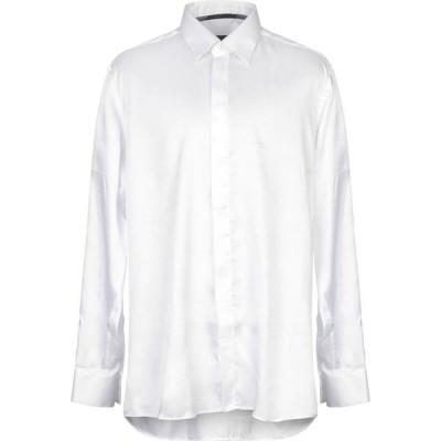 ウンガロ UNGARO メンズ シャツ トップス solid color shirt White