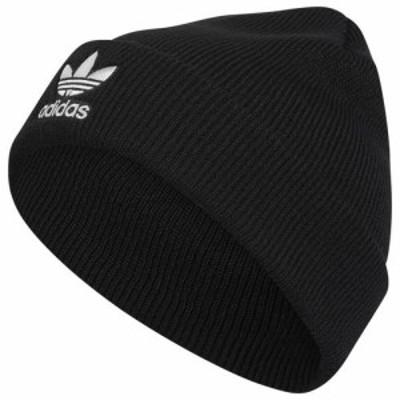 (取寄)アディダス メンズ トレフォイル ビーニー Adidas Men's Trefoil Beanie Black White