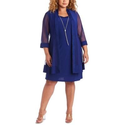 アールアンドエムリチャーズ レディース ワンピース トップス Plus Size Jacket & Necklace Dress