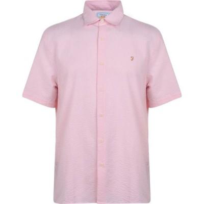 ファーラーヴィンテージ Farah Vintage メンズ シャツ トップス Seersucker Shirt Cool Pink