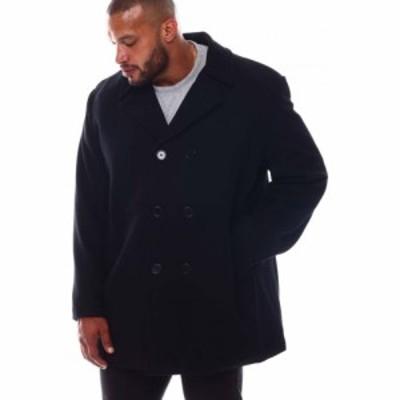 バイヤーズピック Buyers Picks メンズ コート アウター double button closure mid length peacoat (bandt) Black