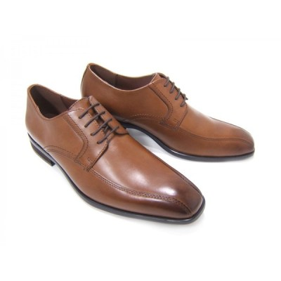 HIROKO KOSHINO/ヒロコ コシノ ビジネス HK127-BROWN紳士靴 ブラウン スワールモカ 外羽根 ロングノーズ3Eワイズ ビジネス 送料無料