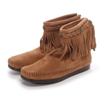 ミネトンカ MINNE TONKA HI TOP BACK ZIP BOOT (Taupe)