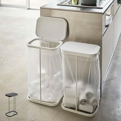 ゴミ箱 横開き 分別 ゴミ袋ホルダー ルーチェ LUCE ふた付き ( キッチン スリム フタ付き )