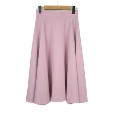 【中古】アダムエロペ Adam et Rope' AER スカート フレア サーキュラー 36 ピンク レディース 【ベクトル 古着】