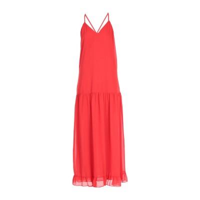 MEM.JS ロングワンピース&ドレス レッド 44 ポリエステル 100% ロングワンピース&ドレス