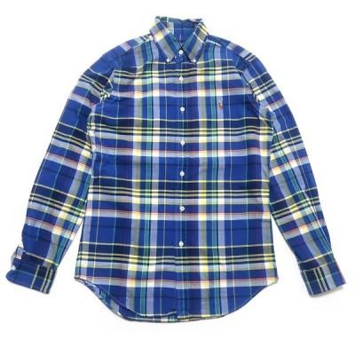 古着 ポロラルフローレン ワンポイントロゴ ボタンダウンシャツ チェック サイズ表記:XS