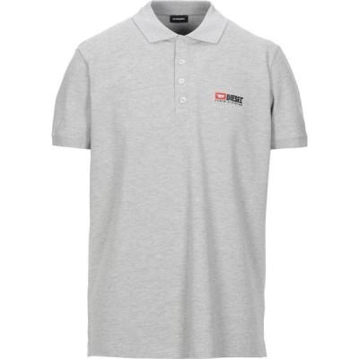 ディーゼル DIESEL メンズ ポロシャツ トップス Polo Shirt Light grey
