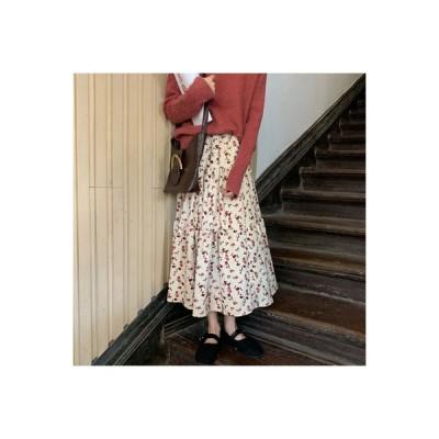 【送料無料】レトロ コーデュロイ スカートと長いセクション 女 秋 学生 何 | 346770_A63710-7207528