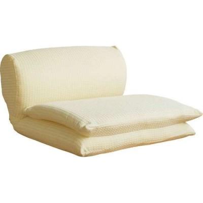 【直送/送料無料】ごろ寝座椅子(オレンジ)〈ワッフル(G)OR〉 【直送】 (bo)