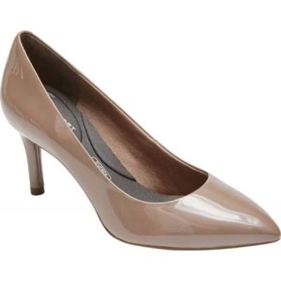 ロックポート Rockport レディース パンプス シューズ・靴 Total Motion 75mm Pointed Toe Pump Taupe Grey Pearl Patent