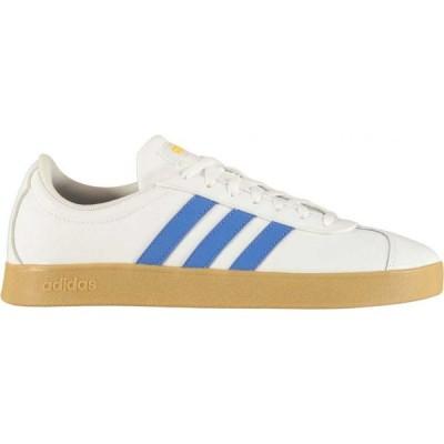 アディダス adidas メンズ スニーカー シューズ・靴 VL Court 2 Leather Trainers White/Blue/Gum
