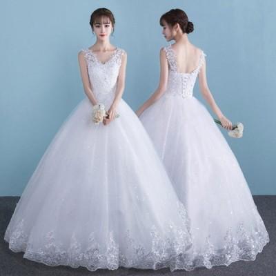 ウェディングドレス ロングドレス 演奏会 花嫁ドレス ウエディングドレス 小さいサイズ プリンセスドレス レース パーティー 大量注文にも対応しています。