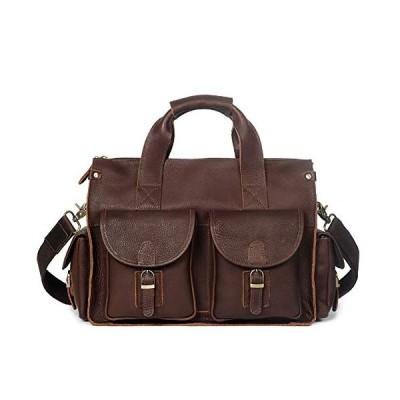 LederleiterEU Leather Men's Shoulder Bag Retro Men's Bag Leather Handbag Crossbody Bag Messsenger Bag Personality Briefcase 並行輸入品