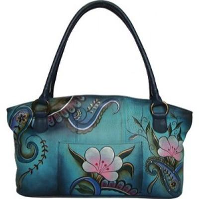 アヌシュカ ANNA by Anuschka レディース トートバッグ バッグ Hand Painted Leather Wide Tote Denim Paisley Floral