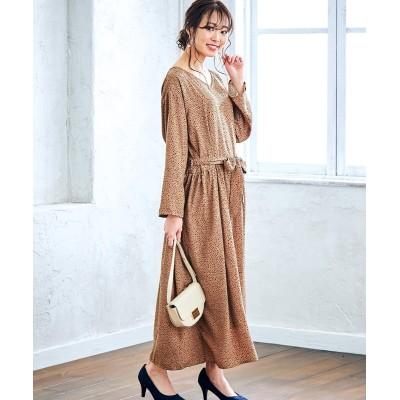 【選べる大人柄。選べるデザイン】デシンプリント柄ワンピース (ワンピース)Dress