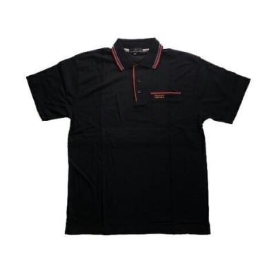 【アールエムストア】 半袖 ポロシャツ 鹿の子ポロ メンズ 5163 夏 Tシャツ 一般 ワンポイント クールビズ 作業着 ワークシャツ メンズ ブラック M RM STORE