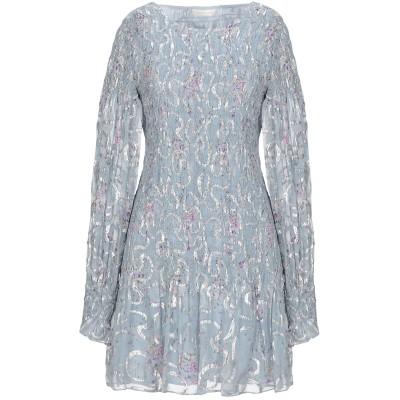LOVESHACKFANCY ミニワンピース&ドレス ライトグレー XS シルク 70% / 金属 30% ミニワンピース&ドレス