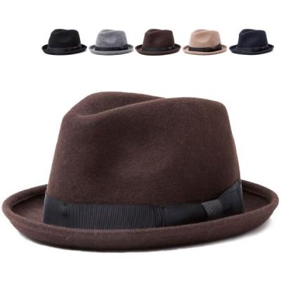 フェルトハット 帽子 中折れ ロールアップ ウール 紳士帽 フリーサイズ ハット 男女兼用 レディース メンズ FELT 小顔 スーツ シンプル