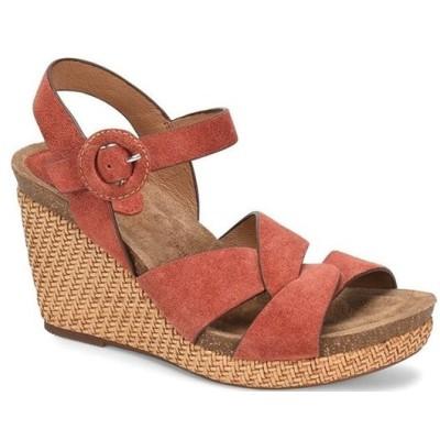 ソフト レディース サンダル シューズ Casidy Adjustable Buckle Suede Wedge Sandals