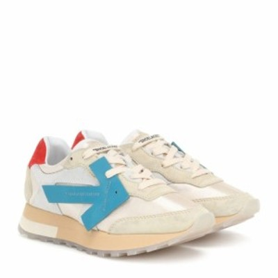 オフ-ホワイト Off-White レディース スニーカー シューズ・靴 HG Runner suede sneakers White Blue